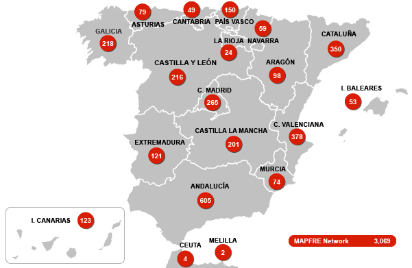 MAPFRE´s Spanish network